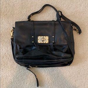 Badgley Mischka black leather purse